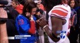 During the on-field celebrations right after New York Giants won the Super Bowl against the New England Patriots, linebacker Greg Jones got down on bended knee and proposed to his girlfriend Amanda Piechowski