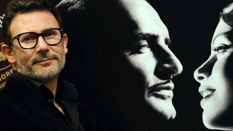 French black and white film The Artist won three of the biggest prizes: best picture, best actor and best director for Michel Hazanavicius (pictured)