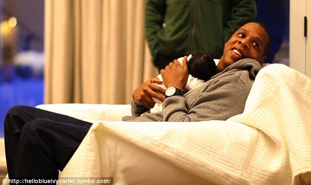 Jay-Z posed with his daughter Blue Ivy