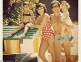 Kim Kardashian with her mother Kris, father Robert Kardashian and sister Khloe