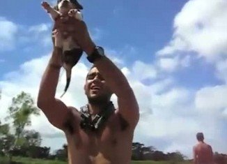 Lion King-ing, the latest internet phenomenon, sees pet owners around the world lifting their animals above their head
