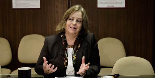 Maria Elena Medina director of the National Institute of Psychiatry speaks about the patent of a new vaccine that could reduce addiction to heroin during a news conference at the institute in Mexico City1 photo