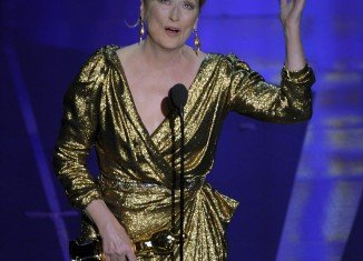 Meryl Streep won best actress for her portrayal of former British Prime Minister Margaret Thatcher in The Iron Lady - her 17th Oscar nomination and third Oscar win