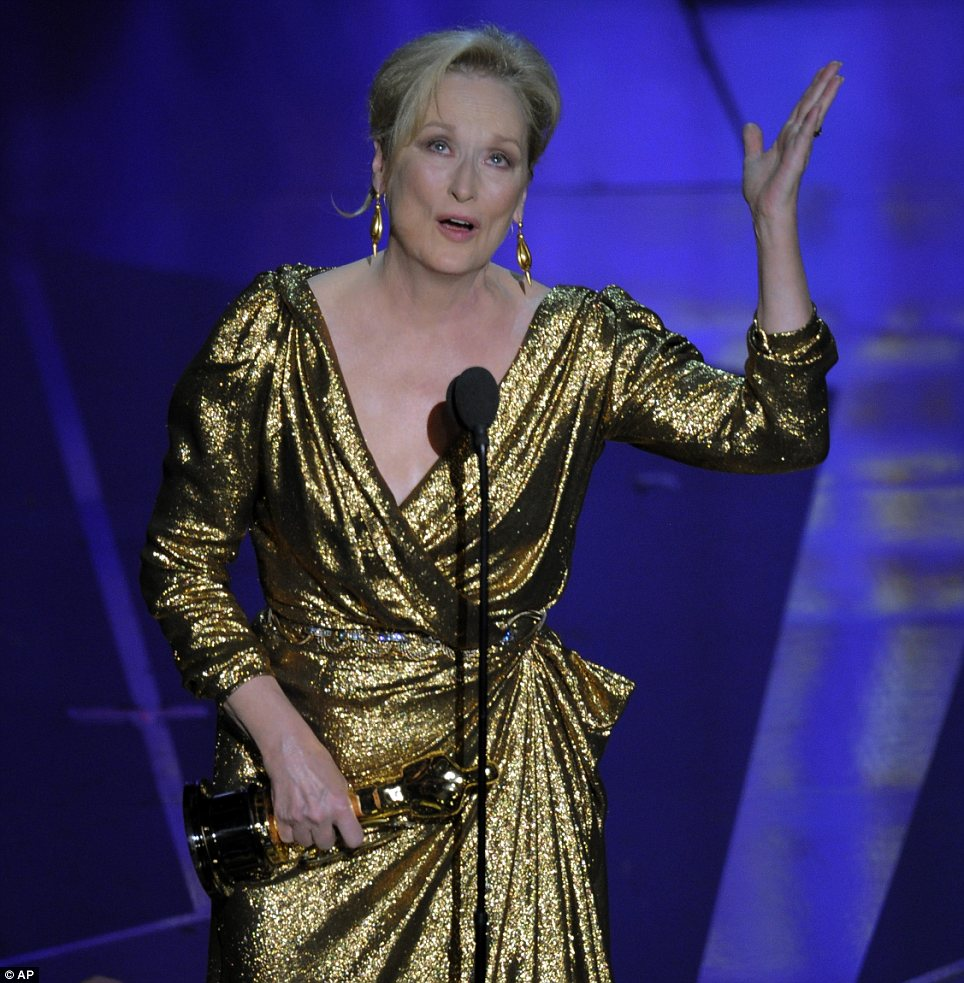 Meryl Streep won best actress for her portrayal of former British Prime Minister Margaret Thatcher in The Iron Lady her 17th Oscar nomination and third Oscar win photo