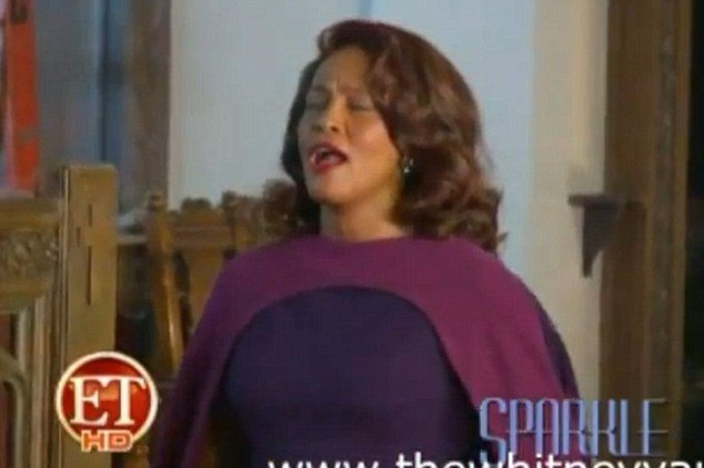 New behind-the-scenes footage of Whitney Houston filming her forthcoming movie Sparkle shows her looking happy and healthy