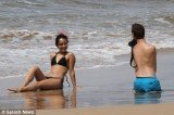 Nick Vujicic, a limbless motivational speaker from California, and his new wife spent their honeymoon on a beach in Hawaii