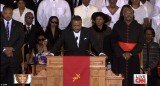 Pastor Joe Carter took to the alter to read some scripture and start the celebration of Whitney Houston's life