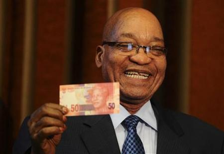 President Jacob Zuma said Nelson Mandela banknotes are a humble gesture to express South Africas deep gratitude photo