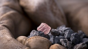 The rare pink diamond was found at Rio Tinto's Argyle diamond mine in Western Australia's East Kimberly region