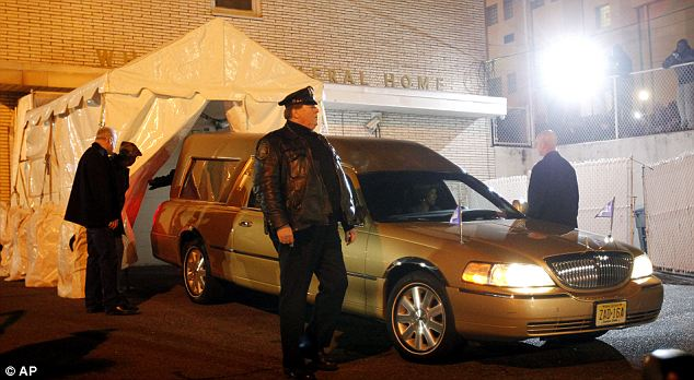 Whitney Houston's body arrived at Whigham Funeral Home, in Newark, New Jersey