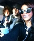 "Whitney Houston with her secret ""son"" Nick Gordon and daughter Bobbi Kristina Brown"