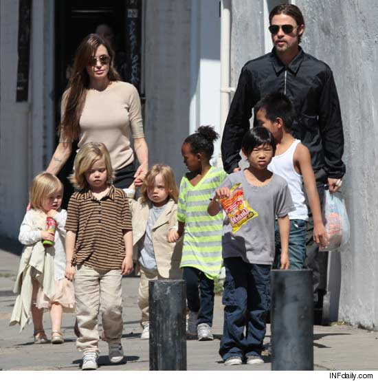 Angelina Jolie and Brad Pitt's children are very unruly say family insiders who are also worried about the kids' health and hygiene photo