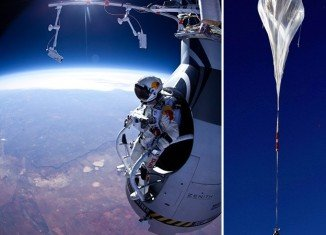 Austrian skydiving daredevil Felix Baumgartner is more than halfway toward his goal of setting a world record for the highest free-fall jump
