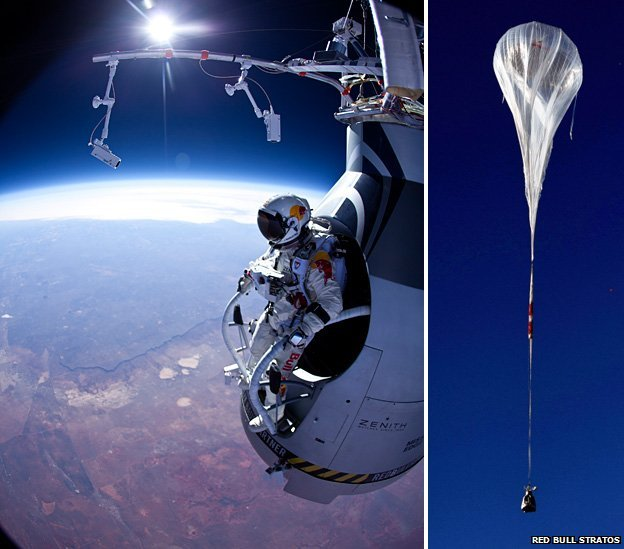 skydiver felix baumgartner ready to set a new world record