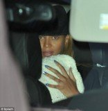 Beyoncé, Jay-Z and their little girl Blue Ivy enjoyed a lunch together at trendy restaurant Nobu