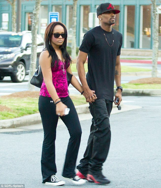 Bobbi Kristina Brown was wearing a large ring on her engagement finger amid reports she and Nick Gordon have secretly got engaged