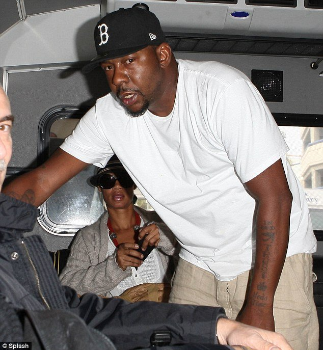 Bobby Brown was forced to use an airport shuttle bus in Los Angeles yesterday as he is struggling financially photo
