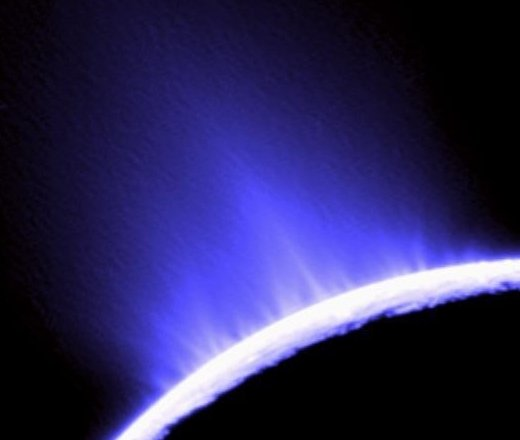Cassini probe has captured striking images of Enceladus's gushing geysers