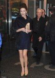 Catherine Zeta Jones showed off her long legs, yesterday, as she stepped out for a rare public appearance with Michael Douglas at the Apollo Theater in Harlem, New York