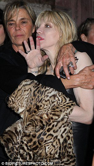 Courtney Love was spotted stumbling around the streets of Manhattan last night after leaving a fashion party in New York with the aid of an assistant