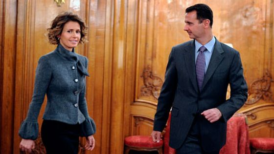 EU foreign ministers are set to impose a travel ban and asset freeze on Syria First Lady Asma al Assad photo
