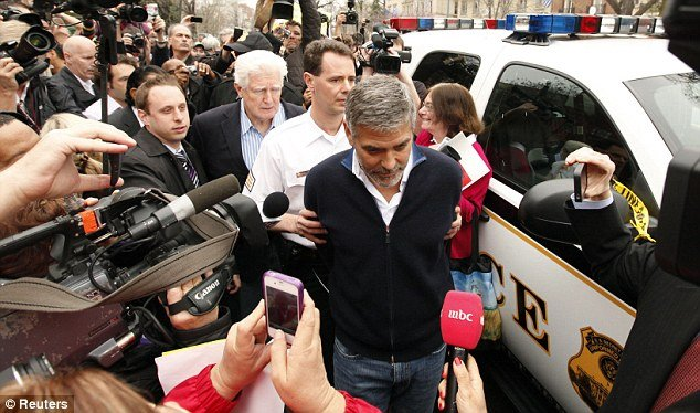 George Clooney has been arrested for civil disobedience at a protest outside the Sudanese Embassy in Washington
