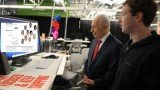"Israeli President Shimon Peres launched his new Facebook page with a MTV-style video that sets his call to ""be my friend, share peace"" after he visited Facebook Inc. headquarters"