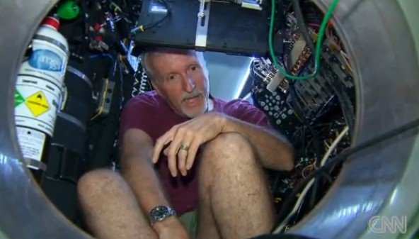 James Cameron begins an attempt to become the first person in 50 years to visit the Mariana Trench