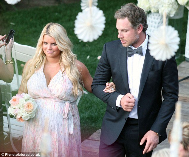 Jessica Simpson played bridesmaid to one of her closest friends and former assistant Lauren Zelman