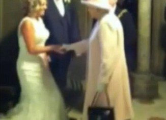 John and Frances Canning could hardly believe their eyes when Queen Elizabeth accompanied by the Duke of Edinburgh walked into the room moments after they had tied the knot at Manchester Town Hall