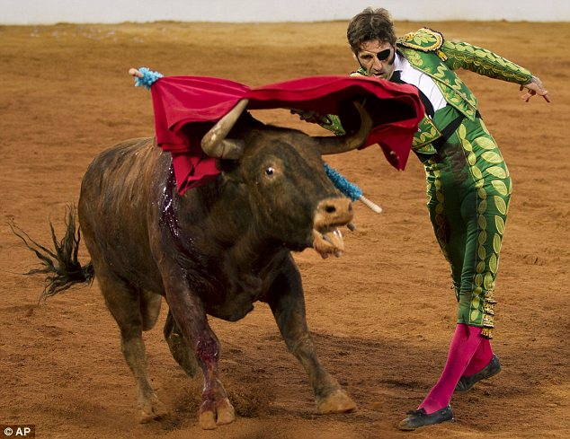 Juan José Padilla, the Spanish matador who lost his left eye in a horrific goring last year, made a remarkable return to the bullring yesterday.