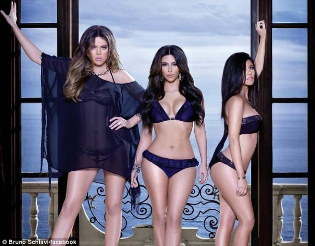 Khloe Kim and Kourtney Kardashian have undoubtedly had a little help in the photoshop department photo