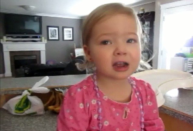 Makena, a two-year-old girl from Canada, puts her heart and soul into a beautiful rendition of the Adele's first number one hit Someone Like You and caused a sensation on YouTube