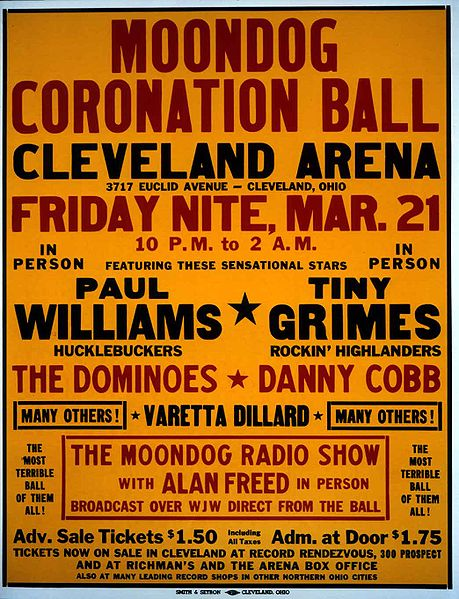 Moondog Coronation Ball, the world's first rock concert was staged in Cleveland in 1952 by two men whose passion for music bridged the racial divide in a segregated US