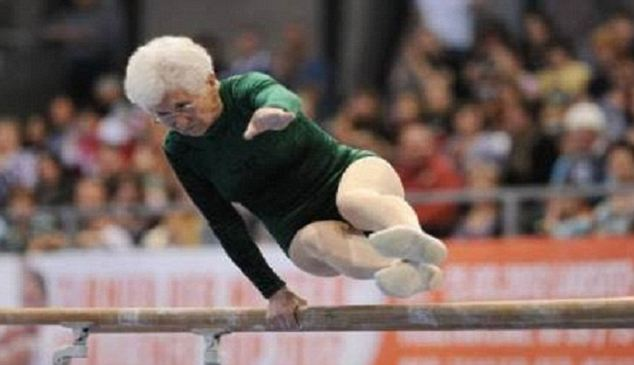 Octogenarian Johanna Quaas showed off her skills at the 2012 Cottbus World Cup in Germany photo