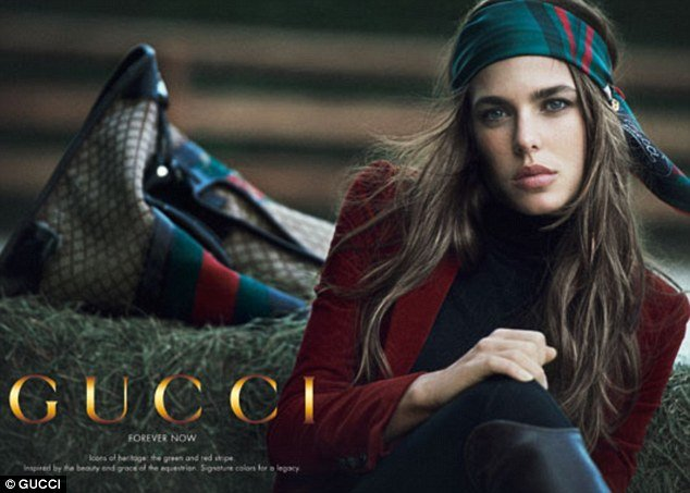 Princess Charlotte Casiraghi of Monaco, granddaughter of Grace Kelly, signed as the Gucci's newest face