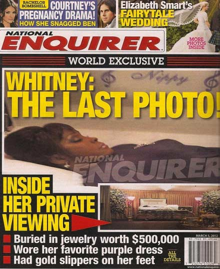 The Improper claims that the prime suspect of leaking Whitney Houston open casket photo to National Enquirer is Tina Brown Bobby Browns sister photo