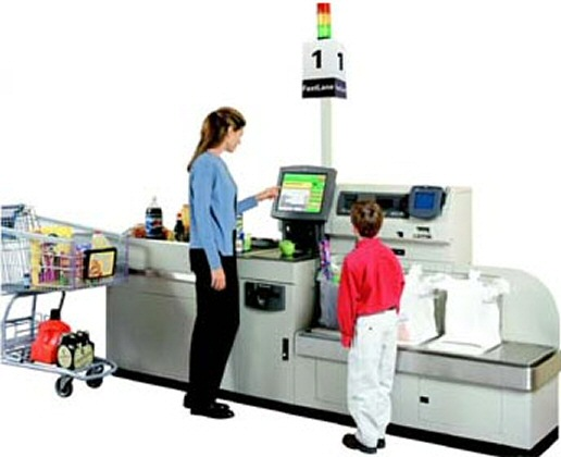 A British research suggests that self service checkouts are turning many shoppers into criminals photo