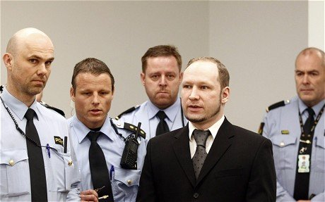 "Anders Behring Breivik says his killings in Norway last July were ""a small barbarian act to prevent a larger barbarian act"