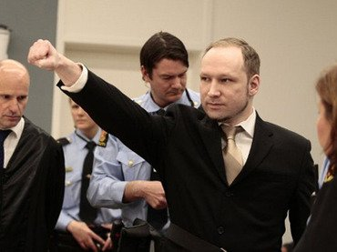 Anders Breivik gave a closed-fist salute, and said he did not recognize the court because it was dependent on political parties who supported multiculturalism