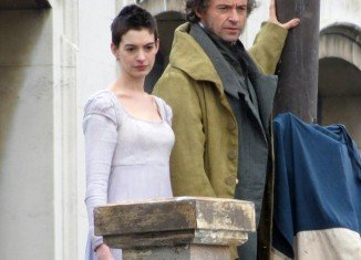 Anne Hathaway displayed the results of the regime, which saw her consuming just 500 calories a day, as she shot scenes for Les Miserables alongside Hugh Jackman