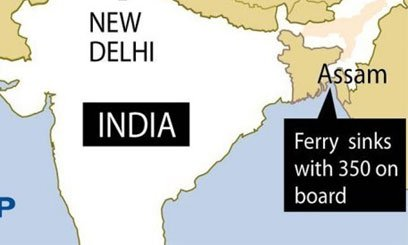 At least 103 people have died after a ferry capsized during a storm in north-eastern India