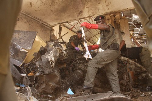 At least six people have been killed in two explosions at the offices of major Nigerian daily ThisDay