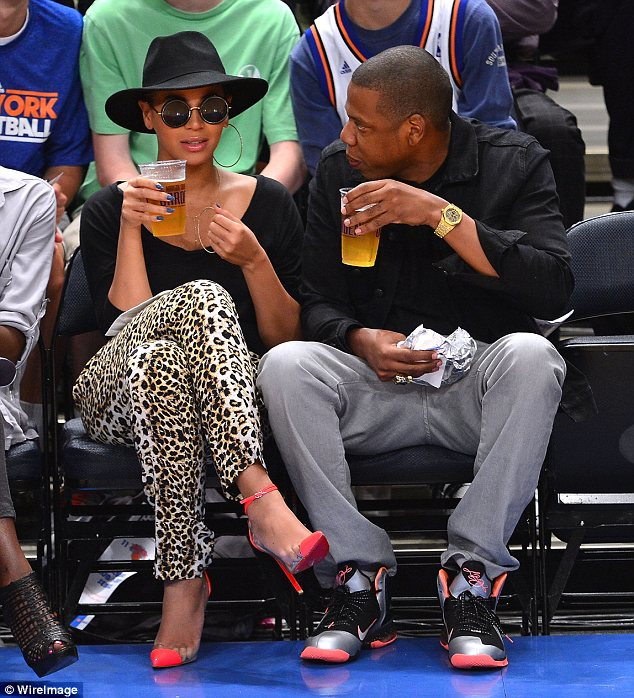 Beyonce had some free time out with her husband Jay-Z to cheer on the New York Knicks at a basketball game in New York