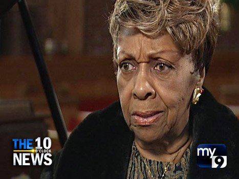 Cissy Houston's interview with Brenda Blackmon for My9s The 10 0Clock News is her first public appearance since Whitney's death photo