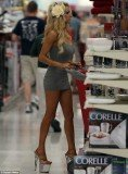 Courtney Stodden stepped out in racy attire yesterday to stock up on kitchen essential