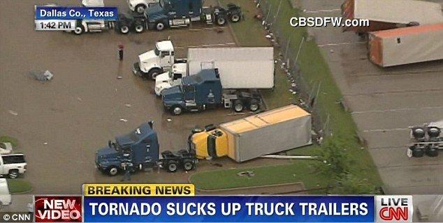 Dallas tornado tosses trucks across the skies as dangerous twister targets Texas