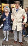 Duchess of Alba held hands with Alfonso Diez as they strolled the streets of the French capital