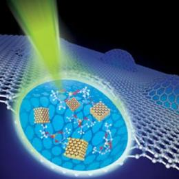 Graphene can form a clear window to see liquids at higher resolution than was previously possible using transmission electron microscopes photo