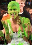 Halle Berry was the first star to fall victim of the awful green goo at the 2012 Nickelodeon Kids' Choice Awards in Los Angeles